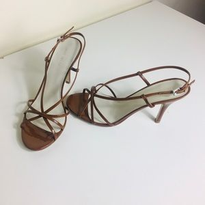 NWT Nine West Dayglow brown strappy heeled sandals